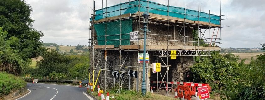 Pipewell Gate during conservation work